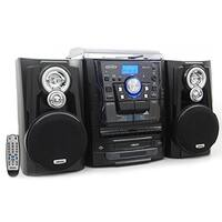 """""""JENSEN JENJMC1250B Jensen JMC-1250 Bluetooth 3-Speed Stereo Turntable and 3 CD Changer with Dual Cassette Deck"""""""