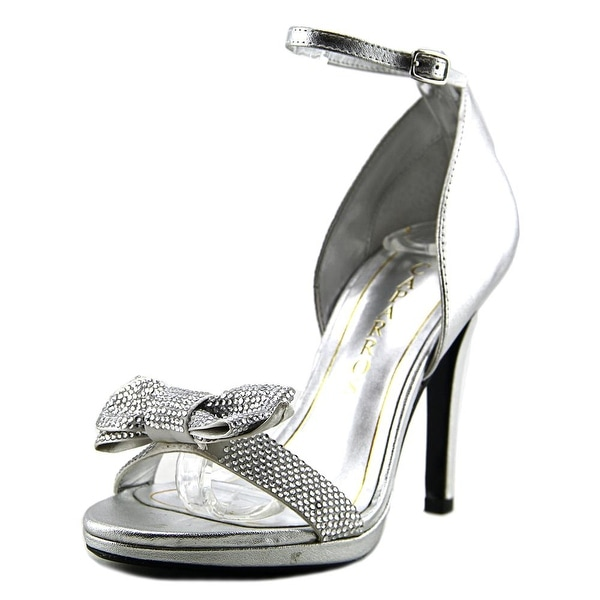 Caparros Zolina Women Open Toe Synthetic Silver Sandals