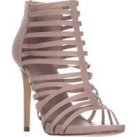 madden girl Lexxx Heeled Strappy Sandals, Taupe