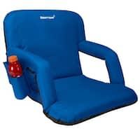 Driftsun Stadium Seat Reclining Bleacher Chair Folding with Back / Sport Chair Reclines Perfect For Bleachers Lawns and Backyard