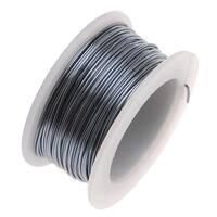 Artistic Wire, Silver Plated Craft Wire 26 Gauge Thick, 15 Yard Spool, Gunmetal/Hematite