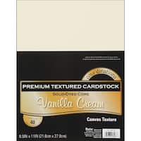 "Core'dinations Value Pack Canvas Cardstock 8.5""X11"" 40/Pkg"
