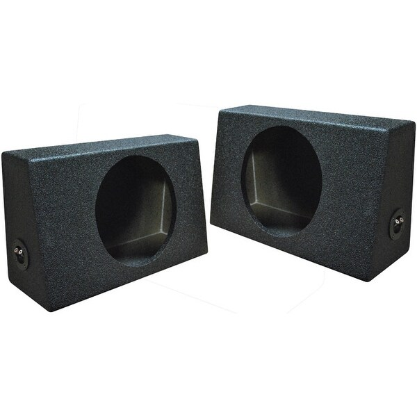 """Qpower QBOMB Single 10"""" Empty Woofer Box. Mounts behind seat. Sold in pairs"""