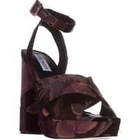 Steve Madden Jodi Platform Sandals, Burgundy Velvet