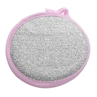 Unique Bargains Round Shape Dish Bowl Cleaning Scrubber Pad Sponge Washing Pad