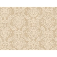 York Wallcoverings 922677 Beige Book Floral Damask Wallpaper - N/A