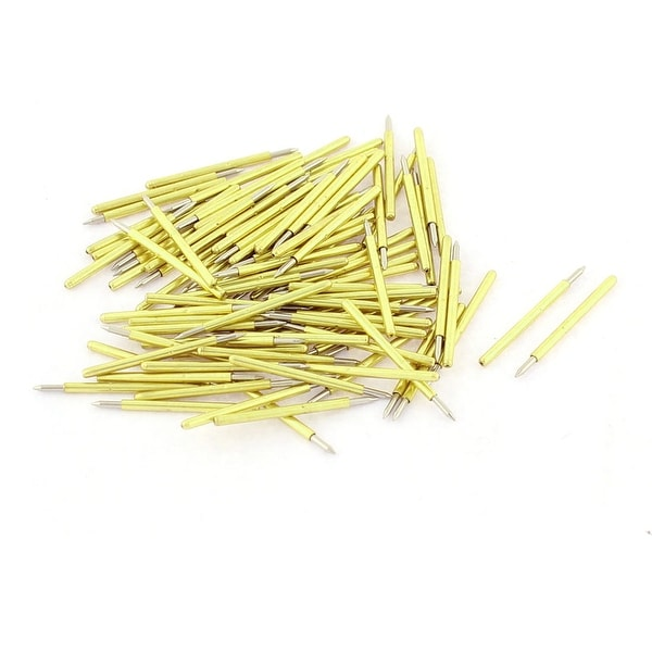 Unique Bargains 100 Pieces P75-B1 Dia 1.02mm 100g IC Testing Spring Test Probe Pin