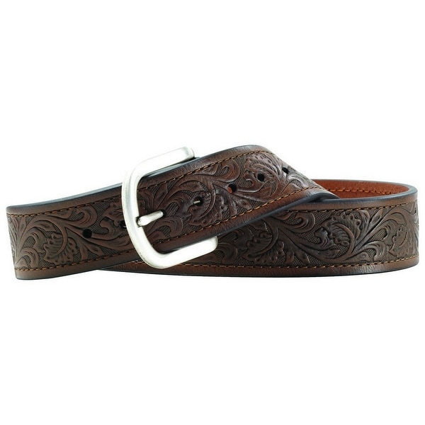 Ariat Western Belt Mens Leather Holden Embossed Tooled