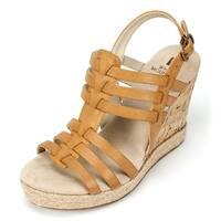 White Mountain Womens VERONIQUE Open Toe Casual Platform Sandals