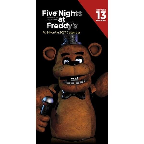 "Five Nights At Freddy's 2017 12""x6"" Vertical Wall Calendar - multi"