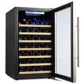 Kalamera Wine Cooler 50 Bottle Single Zone Refrigerator with Digital Temperature Display - Thumbnail 2