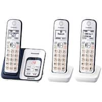 Panasonic KX-TGD563A Link2Cell Bluetooth Cordless Phone with Voice Assist and Answering Machine-3 Handsets (Refurbished)