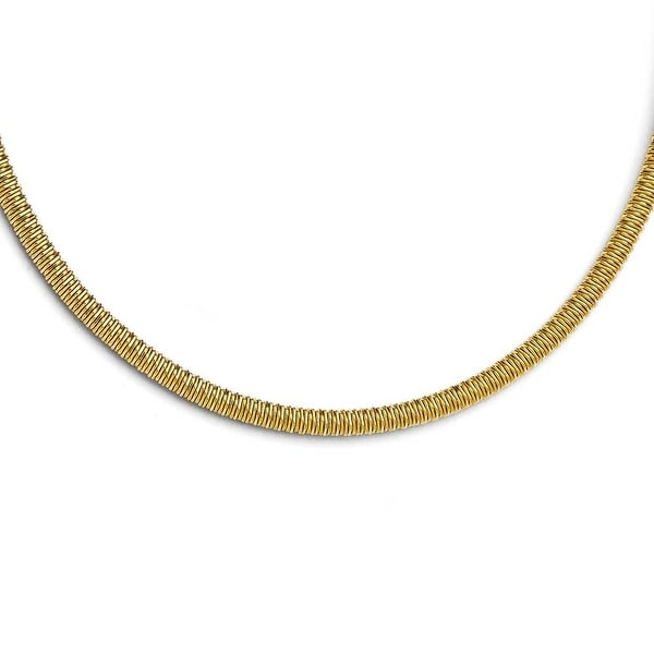 Chisel Stainless Steel Yellow IP-plated Textured with 1.5 inch ext. Necklace (4 mm) - 20 in