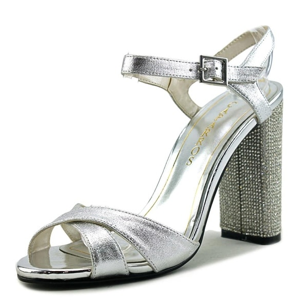 Caparros Hayley Women Open Toe Synthetic Silver Sandals