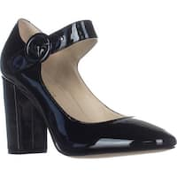 Marc Fisher Shaylie Mary Jane Heels, Black Patent