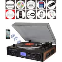 Boytone BT-11B Fully Automatic Large size Turntable, Bluetooth Wireless, built in 2 Stereo speaker S-Shaped Tone Arm with Adjust
