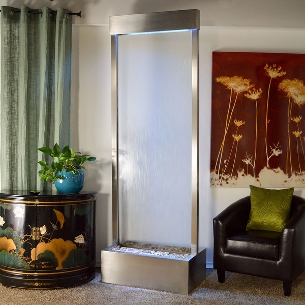 Stainless Steel Gardenfall With Clear Glass 8 Foot