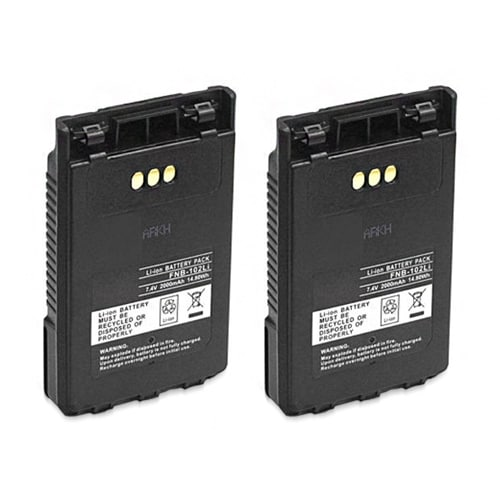 """Battery for Yaesu FNB102LI 2-Pack Replacement Battery"""
