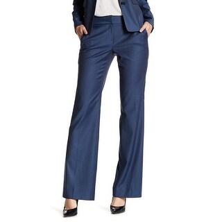 Classiques Entier Navy Womens Woven Flare Suit Pants