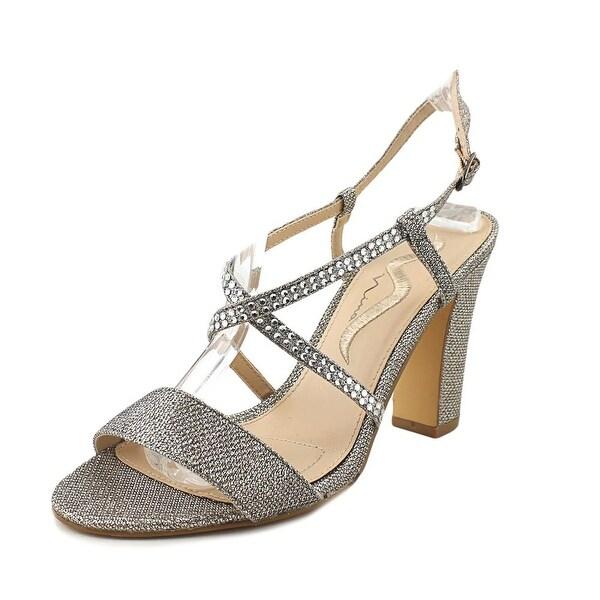 Nina Shianne-YF Women Open Toe Synthetic Silver Sandals