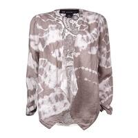 INC International Concepts Women's Tie-Dyed Linen Cardigan
