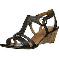 Naturalizer Womens Heston Open Toe Casual Platform Sandals
