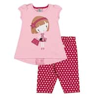 Toddler Girl Outfit T-Shirt and Capri Leggings Set Pulla Bulla Sizes 1-3 Years
