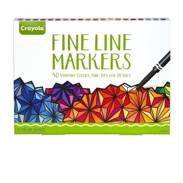 Crayola Aged Up Fine Line Markers, Assorted Colors, Pack of 40