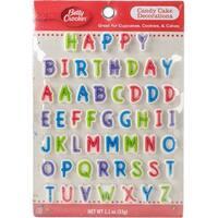 Betty Crocker Candy Cake Decorations 53/Pkg-Happy Birthday & Alphabet
