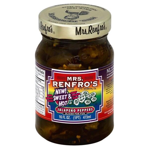 Mrs. Renfro's Jalapeno Peppers Sliced - Pepper - Case of 6 - 16 oz.