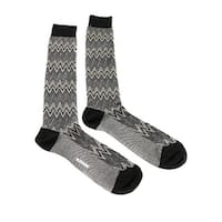 Missoni GM00CMU5242 0004 Gray/Black Knee Length Socks - Grey