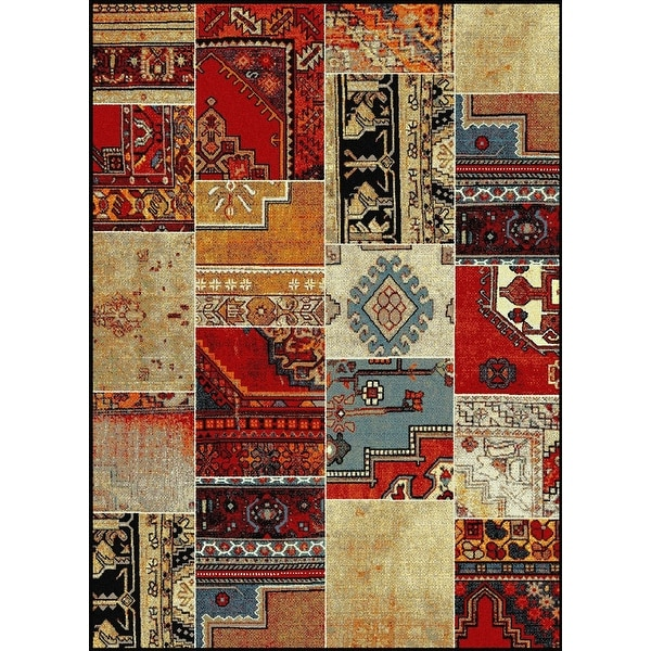 New South Western Multi Color Red Beige Blue Black