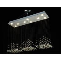 Modern Contemporary *Rain Drop* Chandelier Lighting With Crystal