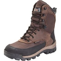 """Rocky Outdoor Boots Mens 8"""" Core WP Insulated Dark Brown"""