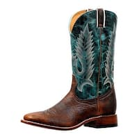 Boulet Western Boots Mens Rider Sole Exotic Old Town Turqueza