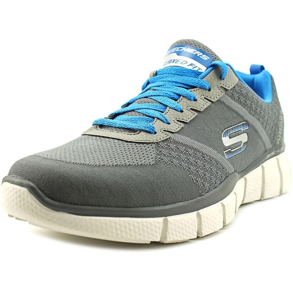 Skechers Equalizer 2.0 - True Balance Men Round Toe Synthetic Gray Sneakers