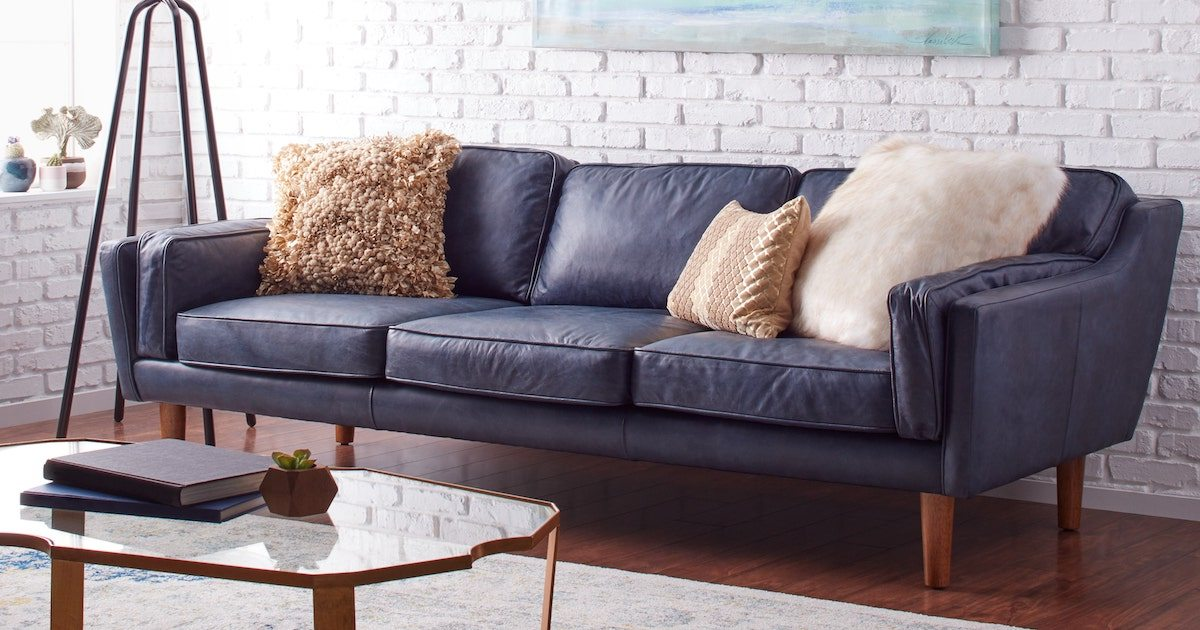 How To Decorate With A Blue Sofa Overstock Com