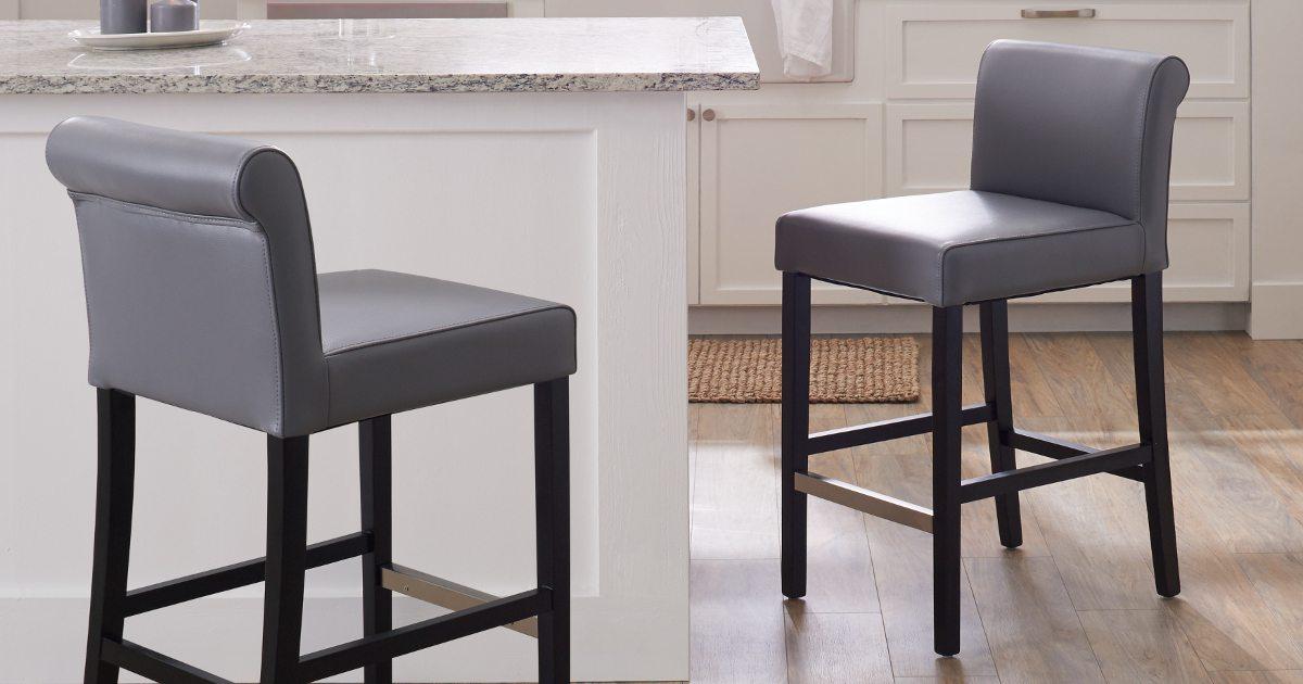 Groovy The 3 Best Counter Stool Upholstery Materials Overstock Com Machost Co Dining Chair Design Ideas Machostcouk